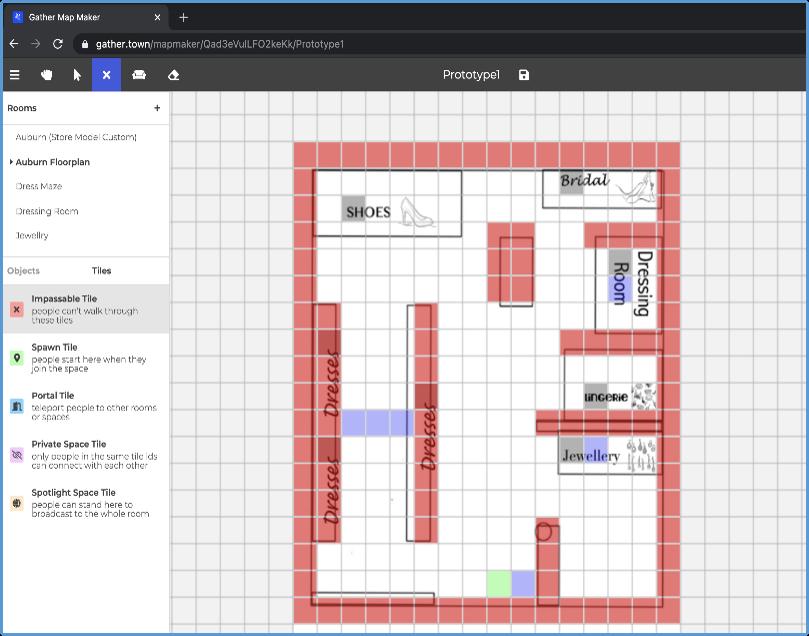 Building the Auburn floorplan in Gather's Mapmaker